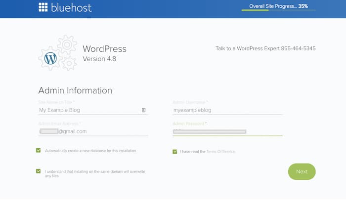 Wordpress-configuration-details