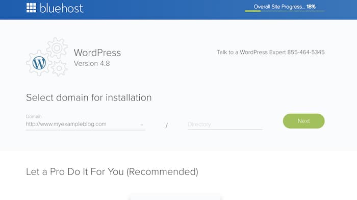 Wordpress installation on Domain
