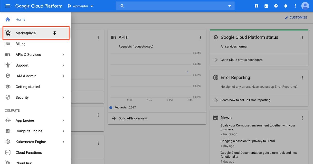 Google Cloud Platfrom Maketplace